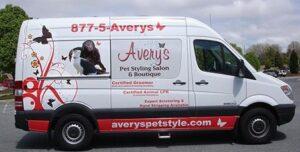 The Avery's Mobile Grooming Van