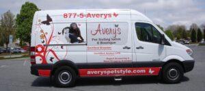 Avery's Mobile Grooming Van